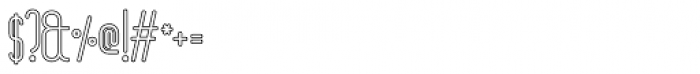 Linja Outline Font OTHER CHARS
