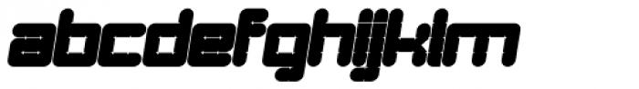 Links Round Oblique Font LOWERCASE