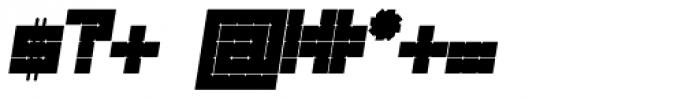 Links Square Oblique Font OTHER CHARS