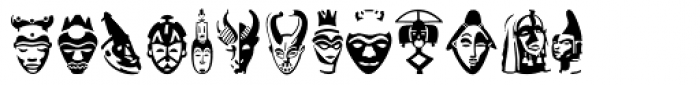 Linotype Afroculture Regular Font UPPERCASE