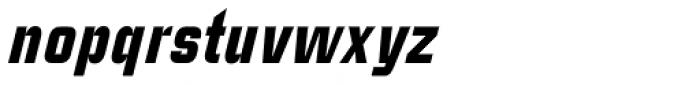 Linotype CaseStudyNo1 Black Italic Font LOWERCASE