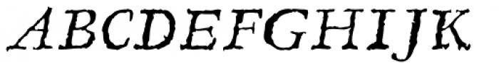 Linotype Compendio Std Italic Font UPPERCASE