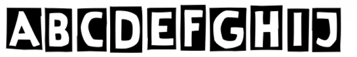 Linotype Cutter Font UPPERCASE