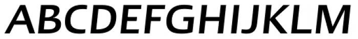 Linotype Ergo Greek Medium Italic Font UPPERCASE