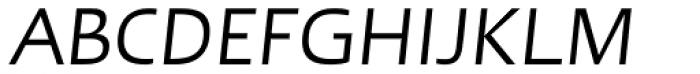 Linotype Ergo Italic Font UPPERCASE