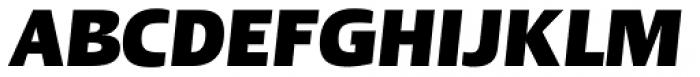 Linotype Ergo Pro Black Condensed Italic Font UPPERCASE