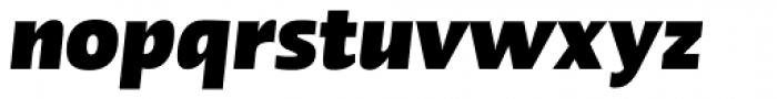 Linotype Ergo Pro Black Condensed Italic Font LOWERCASE