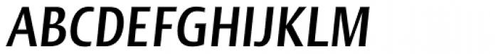 Linotype Ergo Pro Bold Compressed Italic Font UPPERCASE