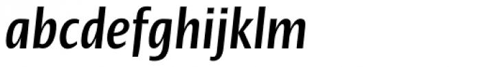 Linotype Ergo Pro Bold Compressed Italic Font LOWERCASE