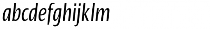 Linotype Ergo Pro Compressed Italic Font LOWERCASE