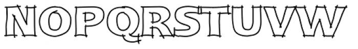 Linotype Ergo Pro Sketch Font UPPERCASE