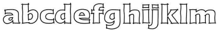 Linotype Ergo Sketch Font LOWERCASE