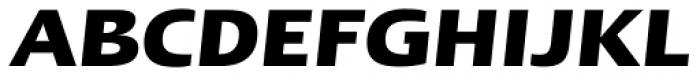 Linotype Ergo W1G Bold Italic Font UPPERCASE