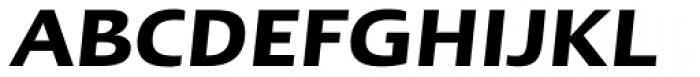 Linotype Ergo W1G DemiBold Italic Font UPPERCASE
