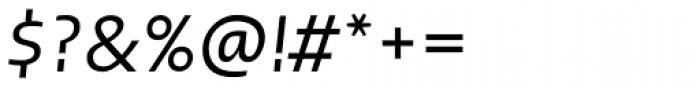 Linotype Ergo W1G Italic Font OTHER CHARS