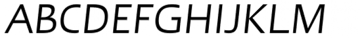 Linotype Ergo W1G Italic Font UPPERCASE