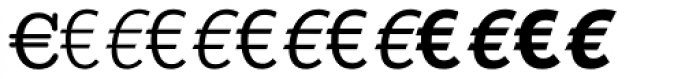 Linotype EuroFont A to F Font UPPERCASE