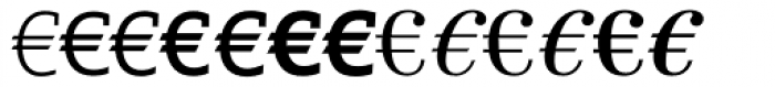 Linotype EuroFont A to F Font LOWERCASE