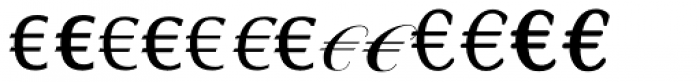 Linotype EuroFont R to S Font UPPERCASE