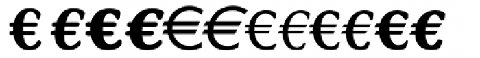 Linotype EuroFont R to S Font LOWERCASE