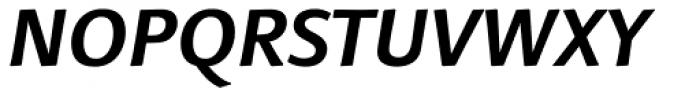 Linotype Finnegan OsF Bold Italic Font UPPERCASE