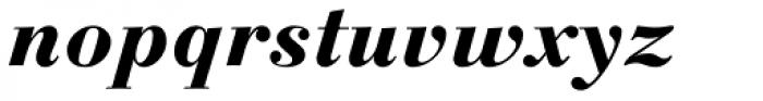 Linotype Gianotten Heavy Italic Font LOWERCASE