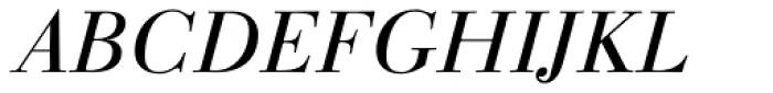 Linotype Gianotten Light Italic Font UPPERCASE
