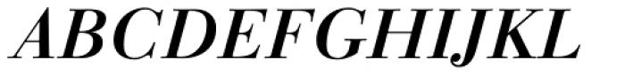 Linotype Gianotten Medium Italic Font UPPERCASE