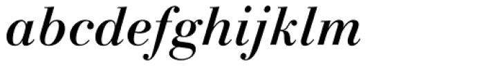 Linotype Gianotten Medium Italic Font LOWERCASE