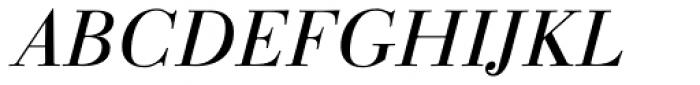 Linotype Gianotten Pro Light Italic Font UPPERCASE