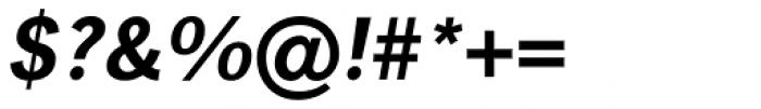 Linotype Gothic Pro Bold Italic Font OTHER CHARS