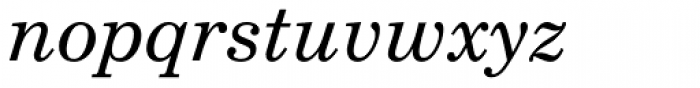 Linotype Maral Oblique Font LOWERCASE