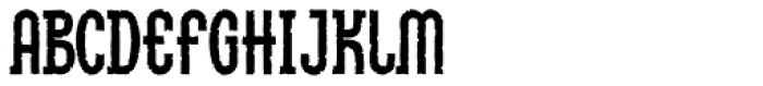 Linotype Method Eroded Font UPPERCASE