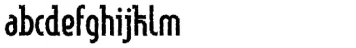 Linotype Method Eroded Font LOWERCASE