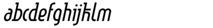 Linotype Method Light Oblique Font LOWERCASE