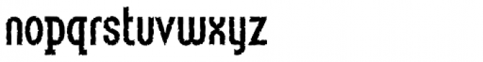 Linotype Method Std Eroded Font LOWERCASE