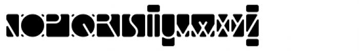 Linotype Mindline Inside Font UPPERCASE