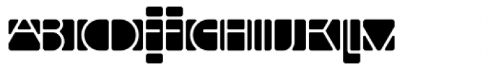 Linotype Mindline Inside Font LOWERCASE