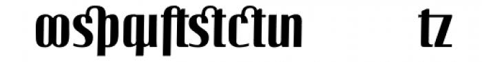 Linotype Octane Bold Addition Font LOWERCASE