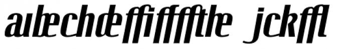 Linotype Octane Bold Italic Addition Font LOWERCASE