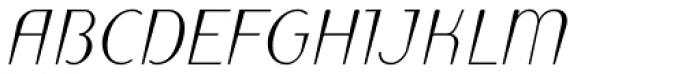 Linotype Puritas Pro Medium Italic Font UPPERCASE
