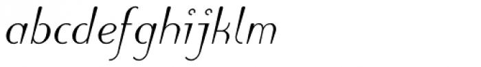 Linotype Puritas Pro Medium Italic Font LOWERCASE