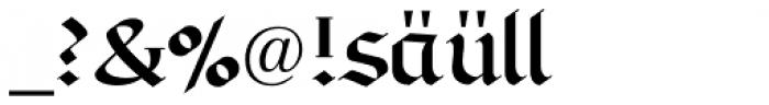 Linotype Richmond Fraktur Regular DFR Font OTHER CHARS