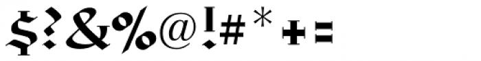 Linotype Richmond Fraktur Regular Font OTHER CHARS