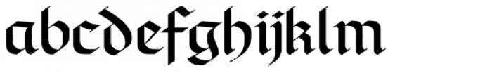 Linotype Richmond Fraktur Regular Font LOWERCASE