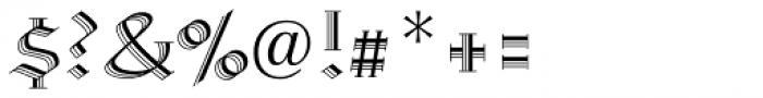 Linotype Richmond Zierschrift Regular Font OTHER CHARS