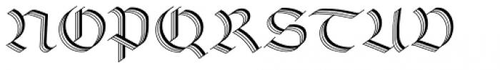 Linotype Richmond Zierschrift Regular Font UPPERCASE