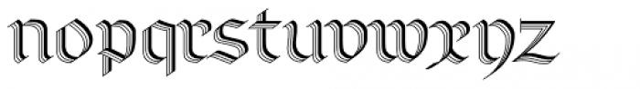 Linotype Richmond Zierschrift Regular Font LOWERCASE