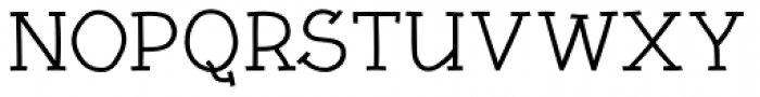Linotype Rough Com Medium Font UPPERCASE