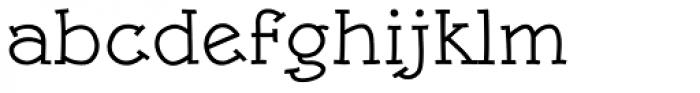 Linotype Rough Com Medium Font LOWERCASE